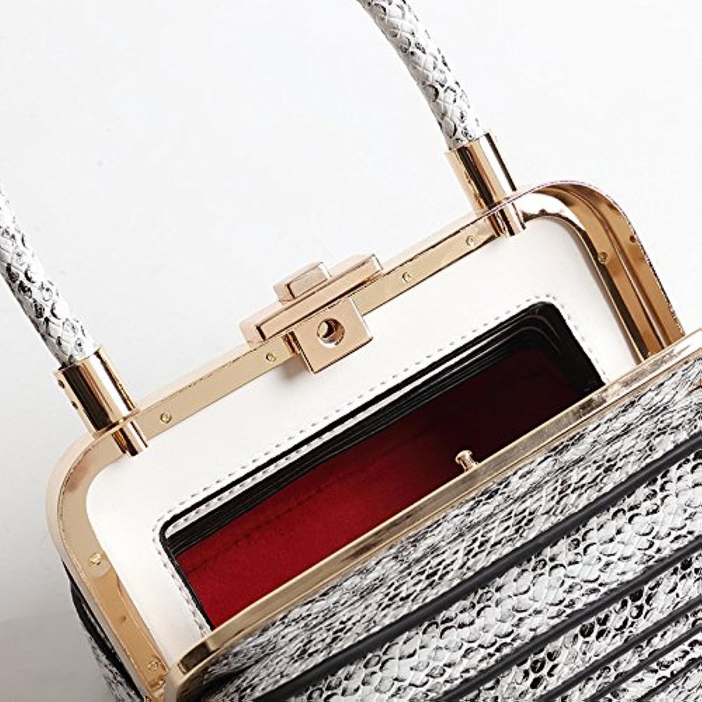 Professional Bag Womens Retro Portable Organ Leather Bag Handbag Wild Handbag Outdoor Travel Essentials (color   White)