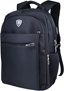 Travel Laptop Backpack,Business Anti Theft Slim Durable Bookbag with USB Charging Port,Water Resistant Large College School Book Bag,Computer Bag for Men/Women/Boys Fits 15.6/15 Inch Laptop/Notebook