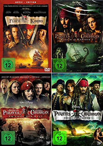 Fluch der Karibik 1 - 4 (Pirates of the Caribbean) [4er DVD-Set]