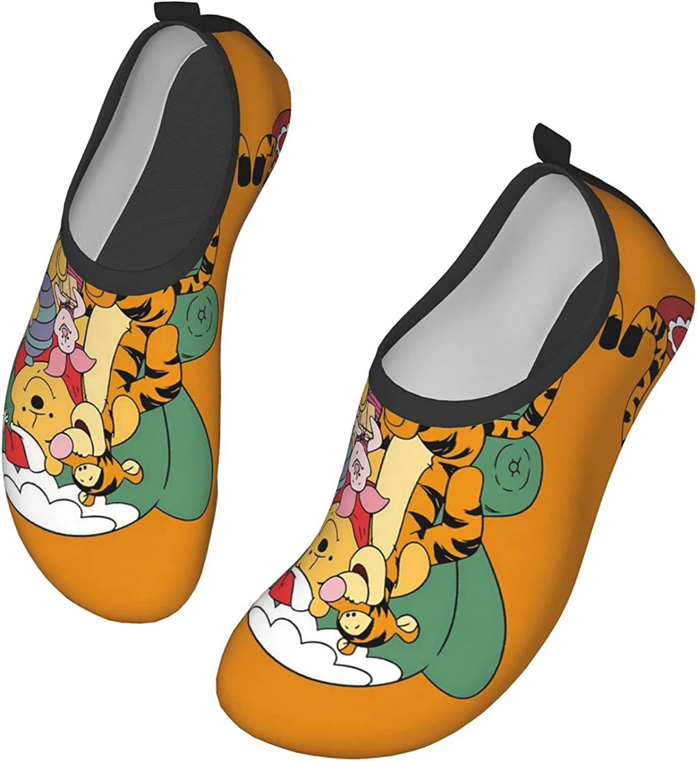 Mawon Winnie The Pooh Water Shoes Men's Women's Swim Shoes Barefoot Beach Pool Shoes Quick-Dry Yoga for Surf Swim Water Sport