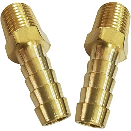 """1//2/"""" Hose Barb x 1//4/"""" NPT Male Pipe Thread 4 Pack Lot Brass Fittings"""