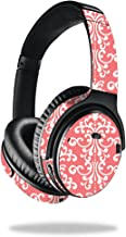 MightySkins Skin Compatible with Bose QuietComfort 35 Headphones - Coral Damask | Protective, Durable, and Unique Vinyl Decal wrap Cover | Easy to Apply, Remove, and Change Styles | Made in The USA
