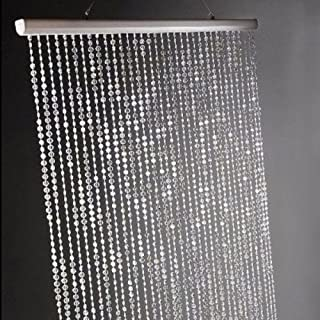 Dpnamron 3 ft x 6 ft Iridescent Faux Crystal Beaded Curtain - Clear