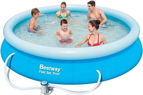 Unbekannt Pool-Set mit Au schwimmbecken und Pumpe, Schnell-BAU-System, frei stehend,  66 x 76cm
