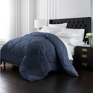 Park Hotel Collection Goose Down Alternative Comforter - All Season - Premium Quality Luxury Hypoallergenic Comforter - Navy - Twin/Twin XL