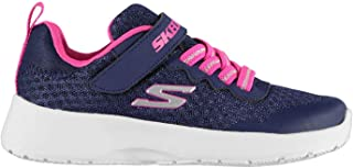Official Brand Skechers Dynamight Memory Foam Trainers Child Girls Navy/Pink Sneakers Footwear