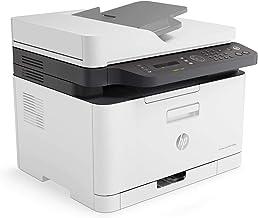 HP Color Laser MFP 179fnw - Impresora láser multifunción (Imprime, Copia y escanea, 18/4 ppm, LED, USB, FAX, WiFi), Blanco