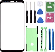 Black - Original Replacement Repair Front Top Glass Lens Cover Screen for Samsung Galaxy S8 Plus SM-G955 Mobile Phone Parts (No LCD Touch Digitizer)