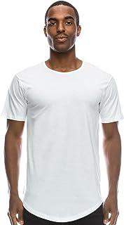 JC DISTRO Mens Hipster Hip Hop Elong Longline Crewneck T-Shirt