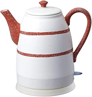 SONGYANG Electric Kettle Electric Ceramic White Kettle Teapot-Retro Automatic Power Off Quiet Fast Boiling for Coffee, Tea,Soup 1.6L 1500W,Red