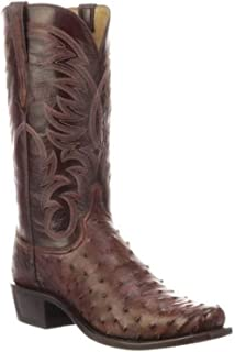 Men's Hugo Full Quill Ostrich Western Boot Square Toe - N1194.73