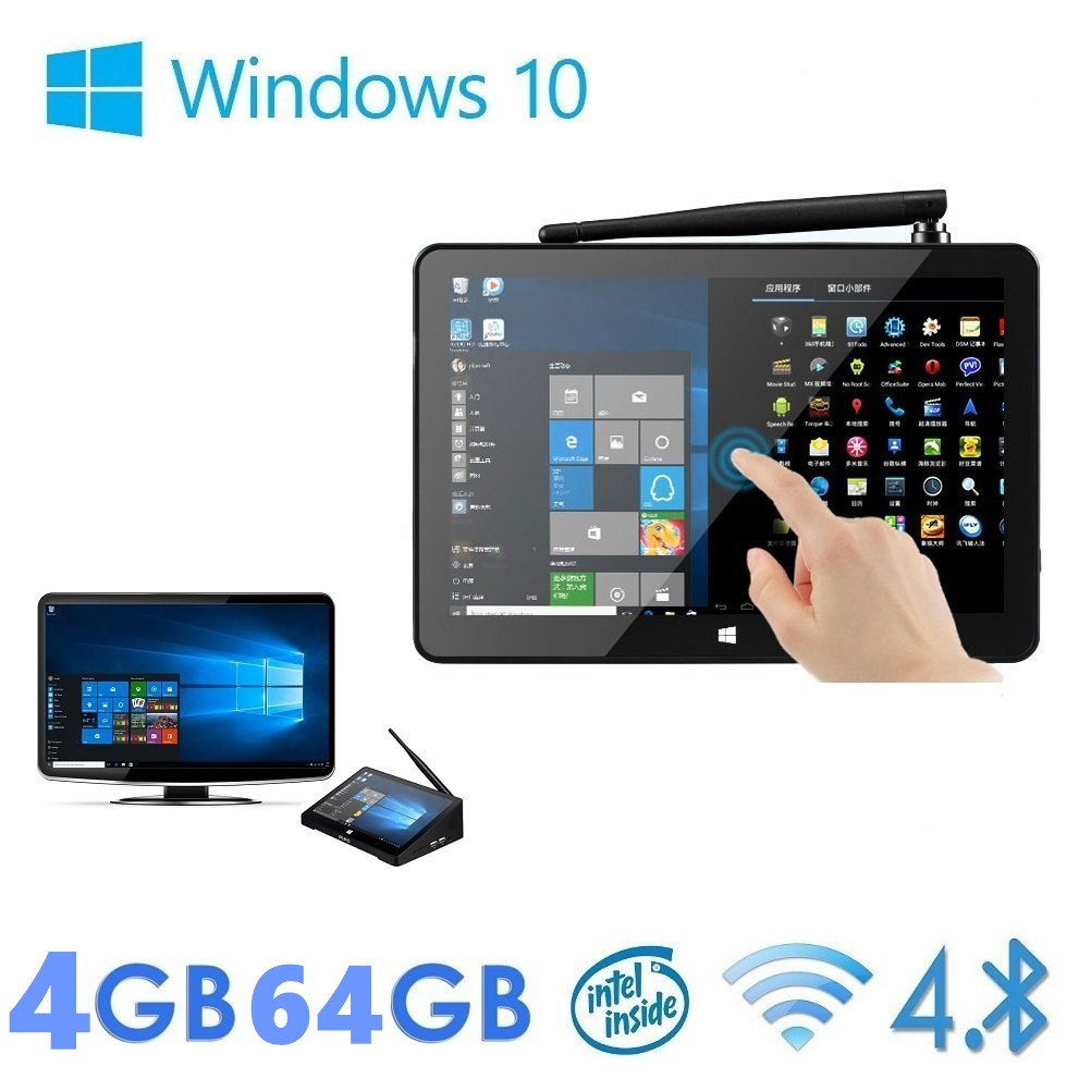Wangang Pipo X9S 4G/64G Mini PC TV Box Windows 10 MINI PC Media Player Device Intel Cherry trail Z8300 Quad Core WIFI Bluetooth Ethernet HDMI Player 8.9