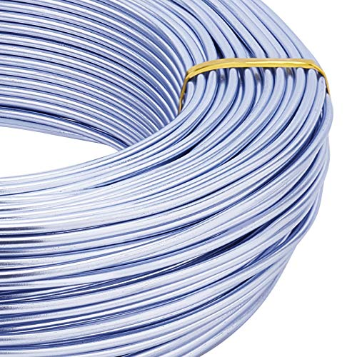 BENECREAT 180 Feet 12 Gauge Jewelry Craft Wire Aluminum Wire Bendable Metal Sculpting Wire for Bonsai Trees, Floral, Arts Crafts Making, Lilac