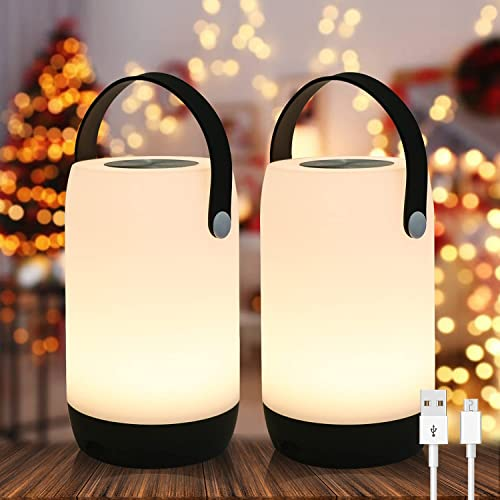 high quality Eldnacele Table Lamp-Touch Sensor popular Lamp for Kids Bedroom, Portable outlet sale USB Rechargeable Dimmable Baby Night Light with White Light, LED Night Lights, 2 Pack outlet online sale