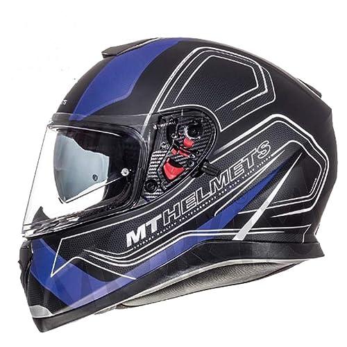 Moto Sportiva Casco M Caschi Integrale: Nuovo Stile Caschi Faccia VCAN V127 CAVA GRAFICO ACU Completa Rosso