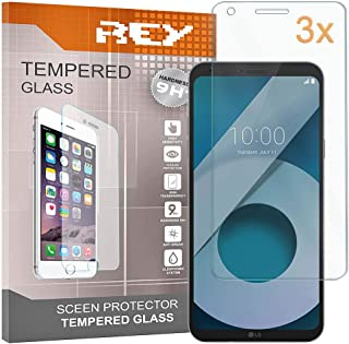 REY skärmskydd för LG Q6/Q6 ALPHA / Q6 PLUS, härdat glasfilm, premiumkvalitet, [paket 3x]