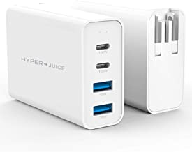 HyperJuice 100W USB C Charger, GaN PD Charger with Pin Converters Dual USB-C PD3.0 USB-A QC3.0 for Mac Win Type C Laptop
