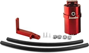 Boomba Racing Stage 2 Oil Catch Can Kit PCV Red for 2013+ Ford Focus ST