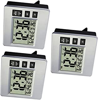 3 Pieces Extra Large Digital Wall Clock, Automatic Time Setting Alarm Clock