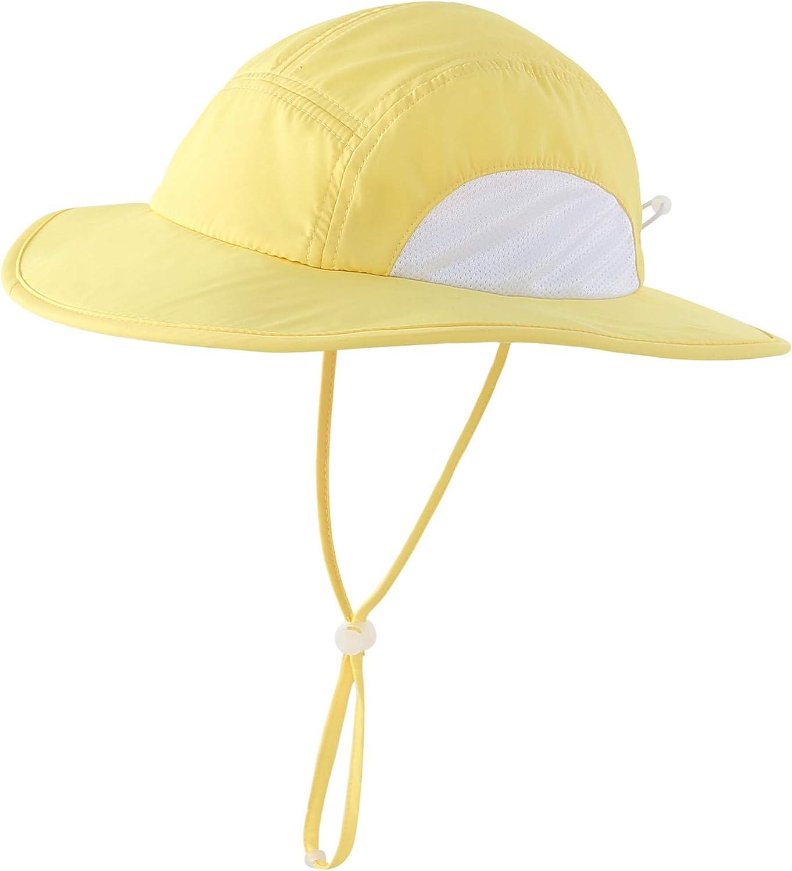 Home Prefer Kids Toddlers UPF50+ Wide Brim Sun Hat Lite UV Protection Bucket Hat