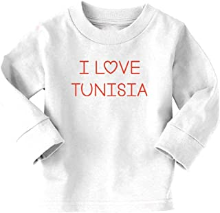 HYBDX9T Little Girls Tree of Life with Tunisia Flag Funny Short Sleeve Cotton T Shirts Basic Tops Tee Clothes