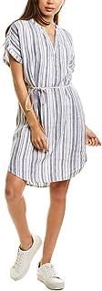 Michael Stars womens Amelee Beach Stripe Linen caftan dress Dress