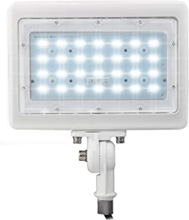 LED Flood Light Outdoor Waterproof Fixture 1/2˜ Knuckle Mount; 10 YR Warranty; Solution for Landscape/Security Lighting 50W=250W Equivalent; 7,048 LMS; 100-277V; 50,000 Life Hours; (Day Light 5000K)