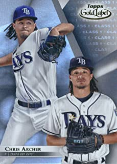 2018 Topps Gold Label Class 1#92 Chris Archer Tampa Bay Rays Baseball Card