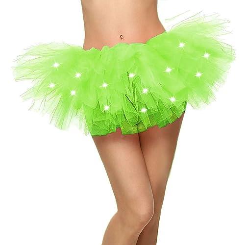 0a6bbbb17 Jasmine Women's LED Light Up Neon Tulle Tutu Skirt