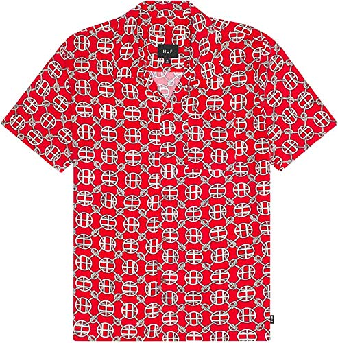 HUF - Atelier Resort Woven S/S Shirt - Red - S
