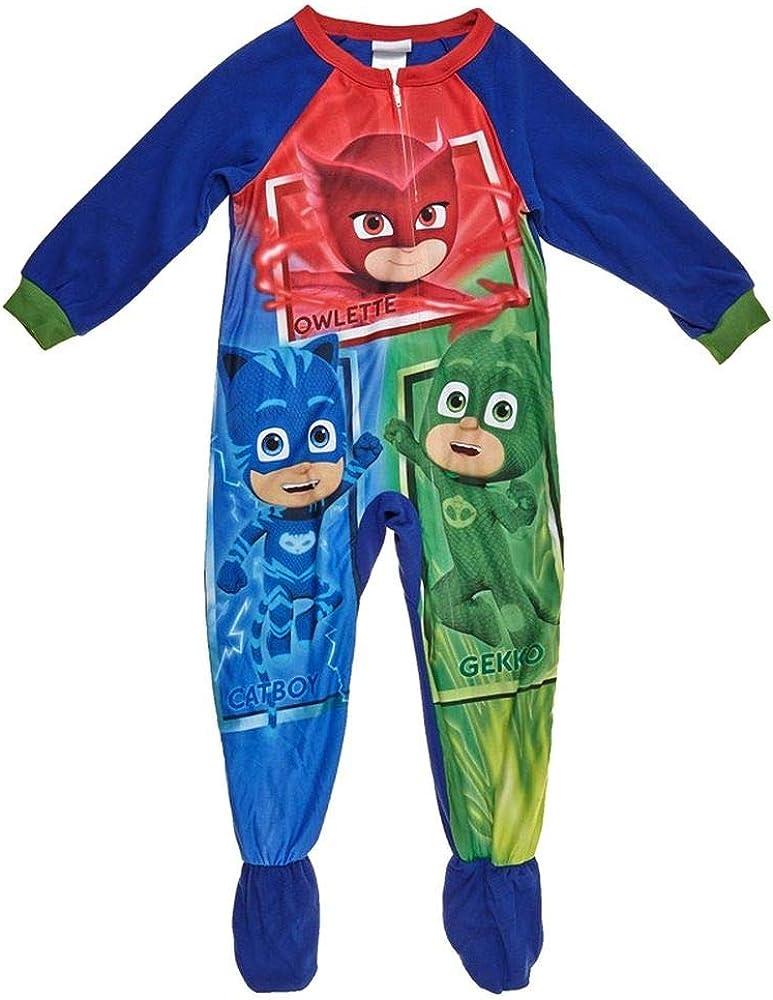 Boy's Toddler 2T PJ Masks Fleece Footed Blanket Pajama Sleeper Blue