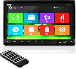 """7"""" Double Din Car Stereo - In Dash Receiver with GPS Navigation, Touchscreen, CD/DVD Player, Android System, LCD Monitor Screen, MP3, USB, SD, FM Bluetooth Compatible- Pyle PLDNB78I"""