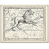 Leo the Lion 1822-11x14 Unframed Art Print - Great Vintage Home Decor and Gift for People Born in July or August Under $15