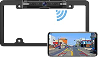 DoHonest WiFi Digital Wireless Backup Camera for iPhone/Android, IP69 Waterproof License Plate Frame Camera for Cars,Truck... photo