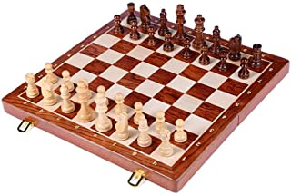 Luckyw Schackset toppklass träfolStort schackset handarbete