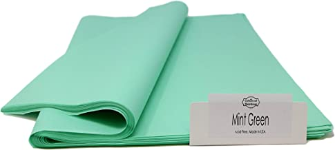 Cool Mint Tissue Paper - 96 Sheets - 15 Inch x 20 Inch - for Gift Bags, Gift Wrapping, Flower, Party Decoration, Pom Poms - Premium Quality Made in United States