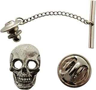 Sarah's Treats & Treasures Skull Tie Tack ~ Antiqued Pewter ~ Tie Tack or Pin
