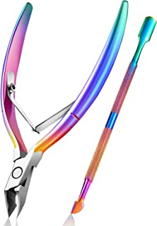 Cuticle Trimmer with Cuticle Pusher, Easkep Cuticle Remover Cuticle Nipper Professional Stainless Steel Cuticle Cutter Cli...