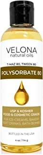 100% POLYSORBATE 80 by Velona | Solubilizer, Food & Cosmetic Grade | All Natural for Cooking, Skin Care and Bath Bombs| Si...