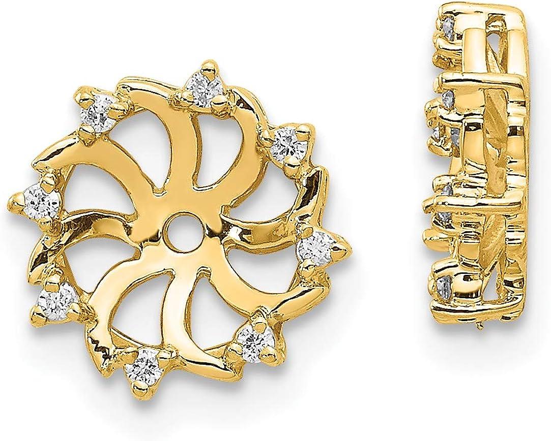 14k AA Diamond Jacket Earrings
