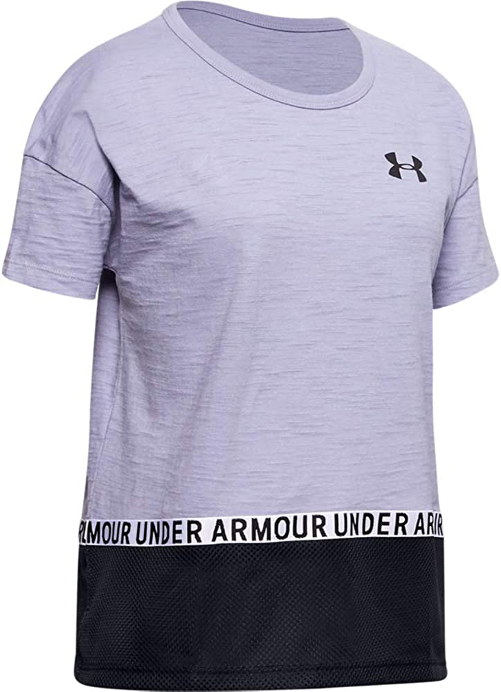 Under Armour Girls' Level Super popular specialty store Up Novelty Minneapolis Mall Sleeve Short Shirt