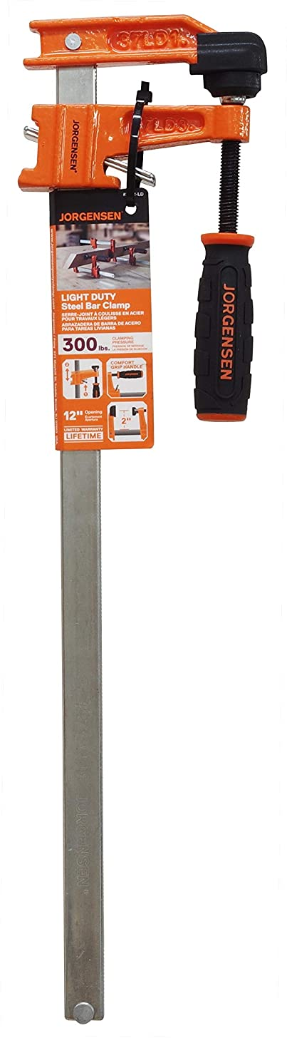 Jorgensen 3712-LD 12 Mini Light-Duty Steel Bar Clamp