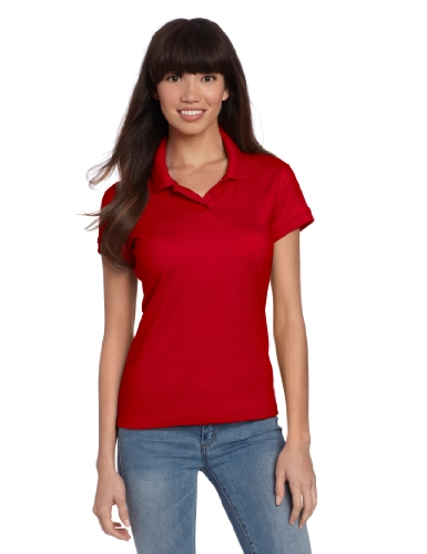 CLASSROOM Juniors Short Sleeve Fitted Polo, Red, Small