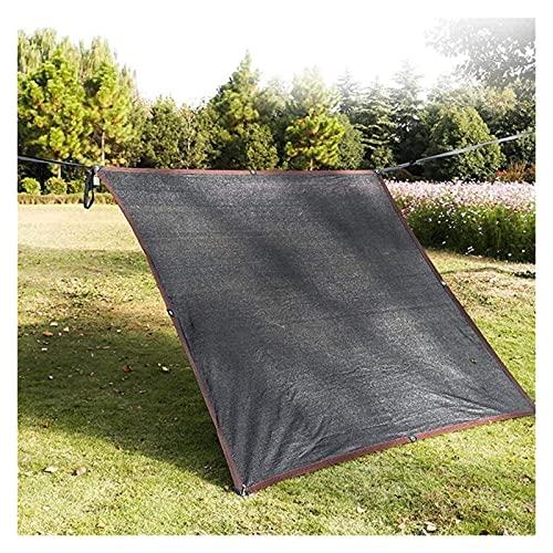 2X4m Cortina de la red cubierta de la cortina toldo for el jardín al aire libre del partido Yard Patio Toldo Toldo protector solar con un 90% UV Block rectángulo negro con ojales (Tamaño: 4m x 5m)