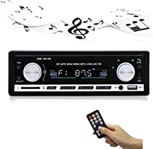 Car Stereo Receiver Radio with 4.0 Bluetooth, Single Din for Car Amplifier, 4×60W,2 Knob In-d,Car Audio USB/SD/AUX/MM Card/ MP3/WMA/APE/FLAC/WAV Music Format, Hands-free Calling FM Reception Function