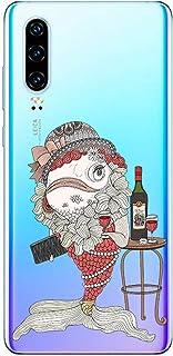 Oihxse Funda Dibujos Animal Lindo Compatible Huawei Honor 10 Carcasa Transparente Clear Silicona TPU Gel Suave Case Ultra ...