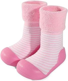 LACOFIA Zapatos de Calcetines Antideslizante de bebé niñas niños Botas de calcetín con Suela de Goma para bebé Unisex