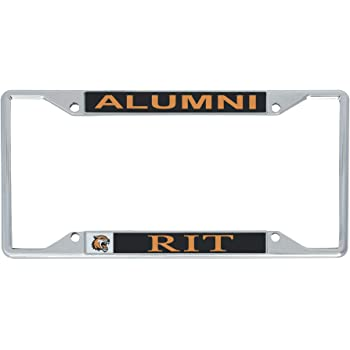 Alumni Desert Cactus Rochester Institute of Technology RIT Tigers NCAA Metal License Plate Frame for Front Back of Car Officially Licensed