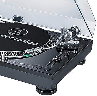 Audio-Technica AT-LP120BK-USB Direct-Drive Professional Turntable (USB & Analog), Black
