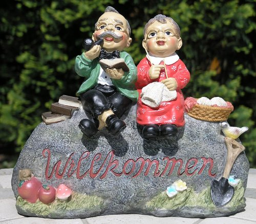 """Gartendekoration Willkommensschild \""""Opa und Oma\"""""""